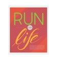 running poster vector image
