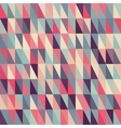 Seamless Multicolor Triangle Grid in Shades vector image