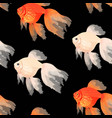 seamless pattern with high detail goldfish vector image