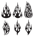 set of flames - flames collection vector image vector image