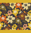 simple free drawn floral seamless pattern vector image vector image