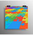 square poster colorful puzzle jigsaw banner vector image
