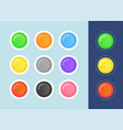 status icon set on dark and light vector image vector image