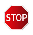 stop traffic road sign vector image vector image