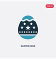 two color easter eggs icon from religion concept vector image