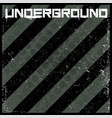 underground abstract background in grunge style vector image vector image