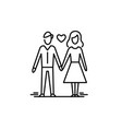 young couple in love man and woman dating vector image vector image