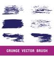 Set of grunge brushes Hand drawn vector image
