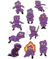 a set of ninja vector image