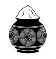 powder mud pot and mandala vector image