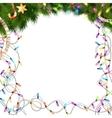 Color Christmas light bulbs on white EPS 10 vector image