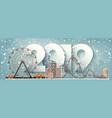 2019 roller coasterwinter urban landscape city vector image