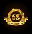 65 years anniversary celebration logotype vector image vector image