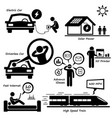 advanced technology of the future stick figure vector image vector image