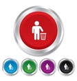After use to throw in trash Recycle bin sign vector image vector image