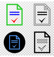 agreement page eps icon with contour vector image