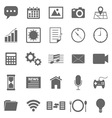 Application icons on white background vector image vector image