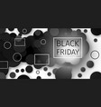 black friday sale black confetti banner ad vector image vector image