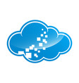 blue cloud symbol big data cloud logobig cloud vector image vector image