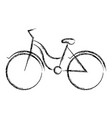 blurred thick silhouette of tourist bike icon vector image vector image