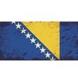 Bosnia and Herzegovina flag Grunge background vector image vector image