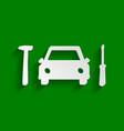 car tire repair service sign paper vector image vector image
