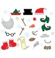 christmas props vector image