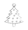 christmas tree pine decoration celebration party vector image vector image