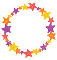 colorful starfish wreath vector image vector image