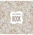 Coloring book cover in unique zentangle style vector image