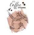 decorative coffee poster vintage engraved vector image vector image