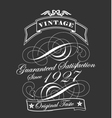 Decorative Vintage Label vector image vector image