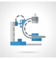Diagnostic machine flat icon vector image vector image