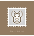 Dog stamp Animal head vector image vector image