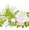 floral border seamless background with roses vector image vector image