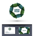 foliage in a circle Logo icon emblem template vector image