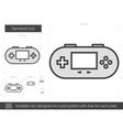 Gamepad line icon vector image vector image