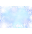 gradient blue winter paper background with vector image vector image