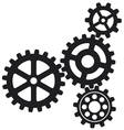 growing gears icon vector image vector image
