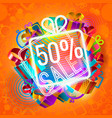 half-price sale and gifts vector image vector image