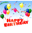 happy birthday with confetti vector image