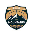 hiking adventures vintage isolated badge vector image vector image