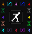Ice skating icon sign Lots of colorful symbols for vector image vector image