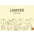Lawyer Legal support banner vector image