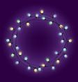 light lamps garland wreath front door fairy vector image vector image
