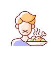 loss appetite rgb color icon
