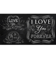 Love forever chalk vector image vector image