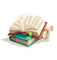 magic books spreadsheet vector image