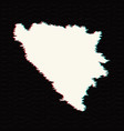 map bosnia and herzegovina isolated vector image vector image