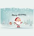 merry christmas and happy new yearsanta claus vector image